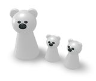 Семья полярного медведя Стоковое Фото