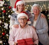 Семья, праздники, поколение, концепция рождества и людей - dau Стоковое Фото