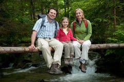 семья приключения стоковое фото