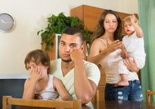 Семья при дети имея ссору Стоковое фото RF