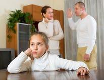 Семья при дочь имея конфликт Стоковое фото RF