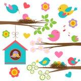 Семья птиц Стоковые Изображения