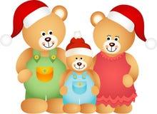 Семья плюшевого медвежонка рождества иллюстрация вектора