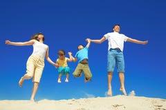 семья радостная Стоковые Фотографии RF