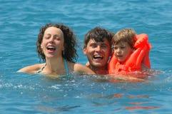 семья ребенка счастливая немногая Стоковая Фотография RF