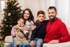 семья рождества счастливая Стоковое Изображение