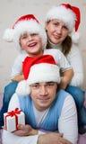 семья рождества счастливая Стоковые Фото