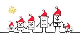 семья рождества иллюстрация штока