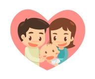 семья симпатичная семья счастливая Стоковое Изображение RF