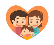 семья симпатичная счастливо совместно Стоковое Фото