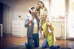 семья симпатичная Стоковое Фото