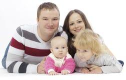 семья симпатичная Стоковые Фото