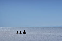 Семья смотря горизонт стоковое изображение rf