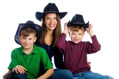 семья страны счастливая Стоковые Фото