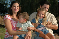 семья счастливая совместно Стоковое Изображение RF