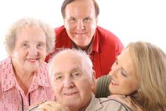 семья счастливая совместно Стоковые Фотографии RF