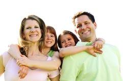 семья счастливая стоковое изображение