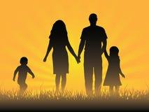 семья счастливая Стоковая Фотография RF