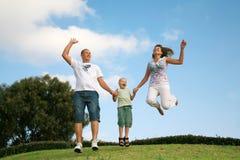 семья счастливая Стоковое Изображение RF