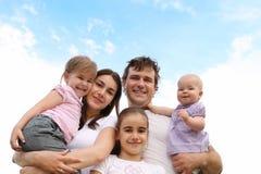 семья счастливая Стоковое Фото