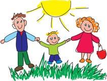 семья счастливая иллюстрация вектора