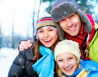 семья счастливая outdoors Стоковое Изображение RF