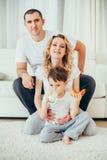 семья счастливая Беременная женщина Стоковое фото RF