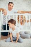 семья счастливая Беременная женщина Стоковые Фото