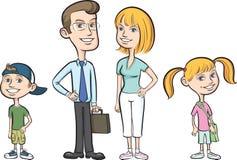 семья 4 счастливая Стоковое фото RF