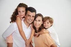Семья с детьми Стоковые Фото