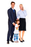 Семья с одним ребенком Стоковые Фото