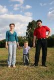Семья с сынком Стоковое Изображение RF