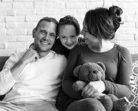 Семья тратит единение праздника счастья времени Стоковое Изображение RF