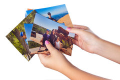 семья фотографирует каникулу стоковые фотографии rf