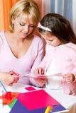 семья цвета вычисляет бумажное ut Стоковое Изображение