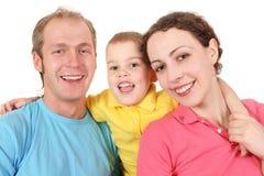 семья цвета мальчика Стоковое Изображение