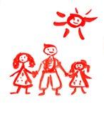 семья чертежа Стоковые Фотографии RF
