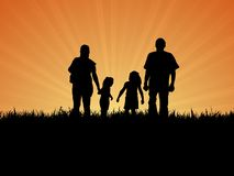 семья дня вне Стоковое фото RF