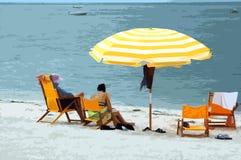 семья дня пляжа Стоковое Фото