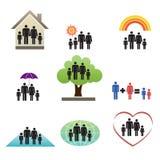 семья 04 эмблем Иллюстрация штока
