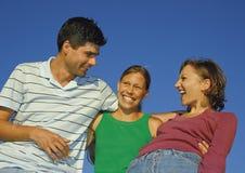 семья 13 счастливая Стоковое Фото