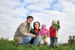 семья 4 Стоковая Фотография