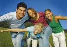 семья 5 счастливая Стоковая Фотография RF