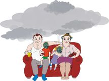 семья Стоковое Изображение RF