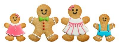 Семья Gingerbread Стоковые Фото