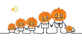 семья halloween иллюстрация вектора