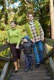 семья outdoors приурочивает Стоковые Изображения