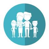 Семья parents childs и тень младенца иллюстрация вектора