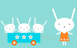 семья s bunnie Стоковая Фотография