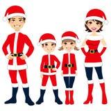 Семья Santa Claus иллюстрация штока
